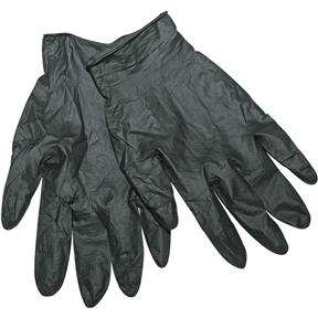 Disposable Black Nitrile Gloves, Large