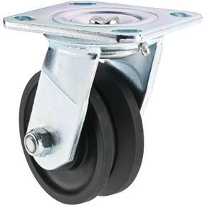 """4"""" V-Groove Plastic Swivel Caster"""