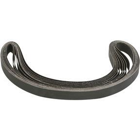 """1"""" x 42"""" S/C Sanding Belt 320 Grit, 10 pk."""