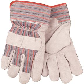 Economy Unlined Leather Palm Gloves, Medium