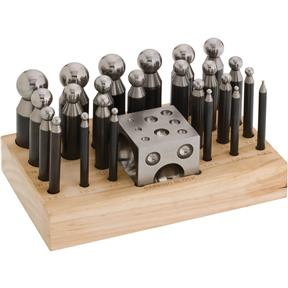 Dapping Punch with Block - 24 pc.