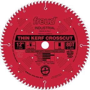 "12"" x 1"" 80t ATB .094 Cross-Cut Saw Blade"