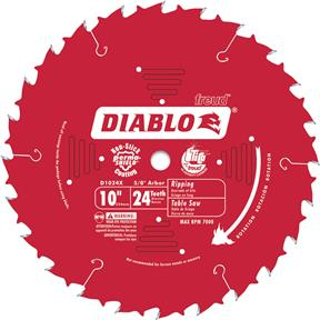 "10"" x 5/8"" 24t ATB .098 Finishing Saw Blade"