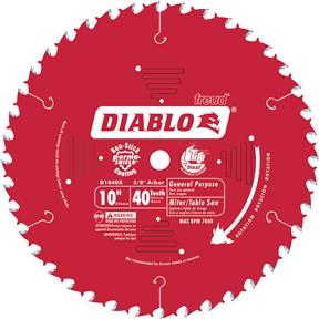 "10"" x 5/8"" 40t ATB .098 General Purpose Saw Blade"