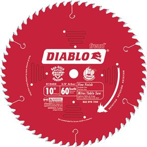 "10"" x 5/8"" 60t Hi-ATB .098 Finishing Saw Blade"