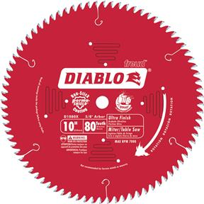 "10"" x 5/8"" 80t Hi-ATB .098 Finishing Saw Blade"
