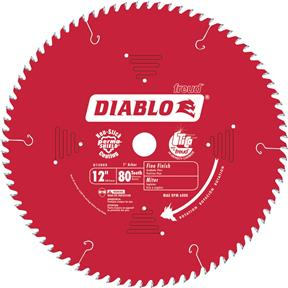 "12"" x 1"" 80t Hi-ATB .118 Finishing Saw Blade"