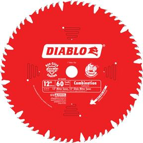 "12"" x 1"" 60t Combination Saw Blade"