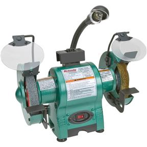 "6"" Bench Grinder with Work Light"