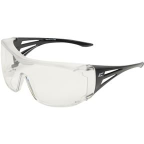 Ossa Fit Over Safety Glasses - Black, Large Clear Lens