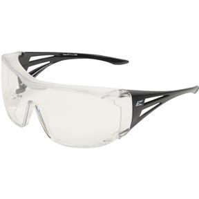 Ossa Fit Over Safety Glasses - Black, Large Clear Lens