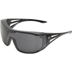 Ossa Fit Over Safety Glasses - Black, Large Smoke Lens