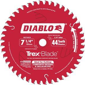 "7-1/4"" x 5/8"" 44t MTCG .063 Composite Decking Blade"