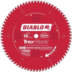 "10"" x 5/8"" 72t MTCG .100 Composite Decking Blade"
