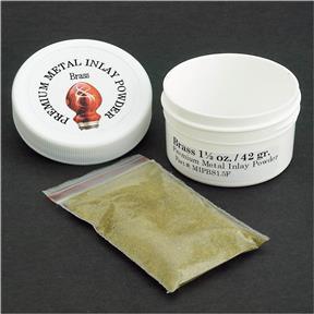 Brass Premium Metal Powder Inlay, 1-1/2 oz.