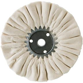 "10"" x 3 x 16 Ply x 7/8"" Domet Flannel Buffing Wheel, 3200 RPM"