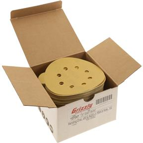 """5"""" A/O Sanding Disc, U612 220-A Grit PSA 8 Hole, 100 pk."""