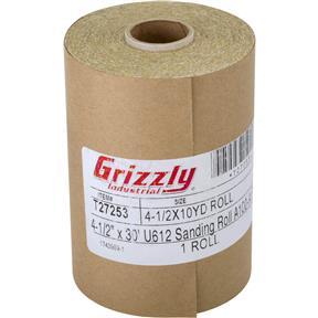 "4-1/2"" x 30' U612 A/O Sanding Roll 100-A Grit, PSA"
