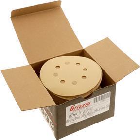 """5"""" A/O Sanding Disc, U612 320-A Grit H&L 8 Hole, 100 pk."""