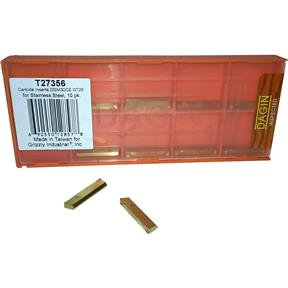 Carbide Inserts DGM30CE GT25 for Stainless Steel, 10 pk.