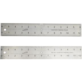 """12"""" 4R Center Rule and Angle Gauge 2 in 1"""