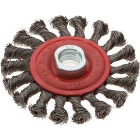 "4"" Twisted Knot Wheel Brush with Thread"