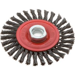 "4"" Stringer Bead-Twisted Knot Wheel Brush with Thread"