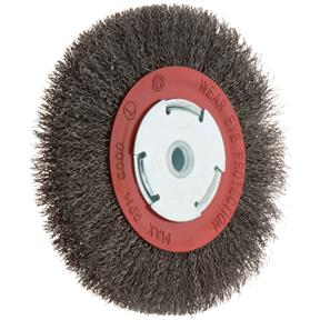 "6"" Circular Crimped Wire Brush, Steel"