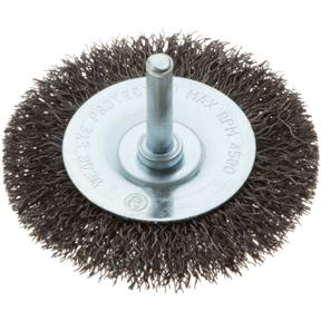 """3"""" Shaft Mounted Circular Crimped Wire Brush"""