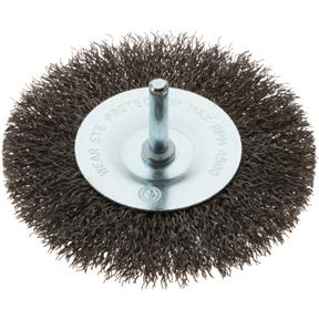 "4"" Shaft Mounted Circular Crimped Wire Brush"