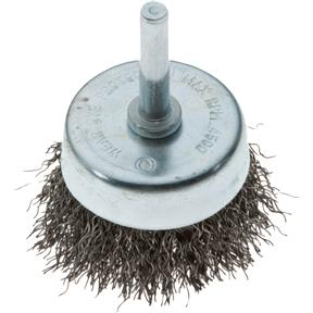 """2"""" Shaft Mounted Cup Crimped Wire Brush"""