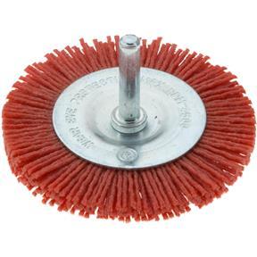 "3"" Nylon Abrasive Circular Brush with Shaft"