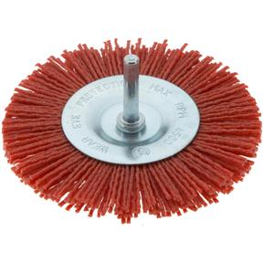 "4"" Nylon Abrasive Circular Brush with Shaft"