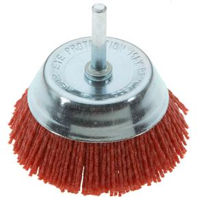 "3"" Nylon Abrasive Cup Brush with Shaft"
