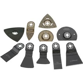 Expanded Kit for Oscillating Multi-Tools, 10 pc.