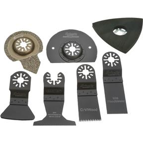 Kit for Oscillating Multi-Tools, 7 Pc.