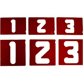 """1.5"""" and 2.5"""" Vertical Number Template Set"""