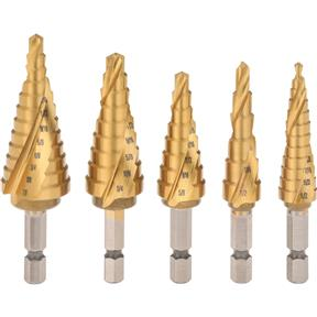 5 Pc. Step Drill Bit Set