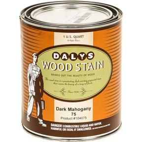Daly's Wood Stain, Dark Mahogany - Quart