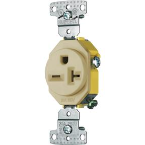 20 Amp 250V Single-Phase Single Receptacle