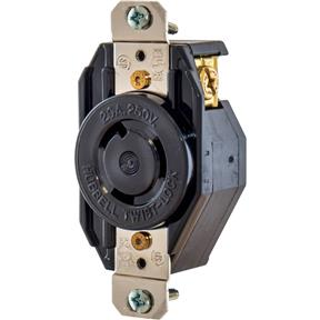 20 Amp 250V NEMA L6-20 Single-Phase Twist Lock Receptacle
