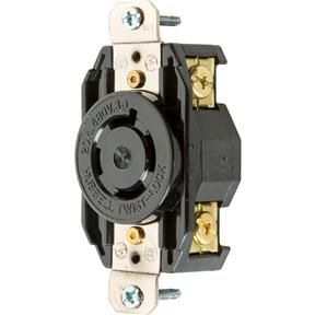 20 Amp 480V NEMA L16-20 3-Phase Twist Lock Receptacle