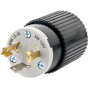 30 Amp 125V NEMA L5-30 Twist Lock Plug