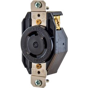 30 Amp 250V NEMA L6-30 Single-Phase Twist Lock Receptacle