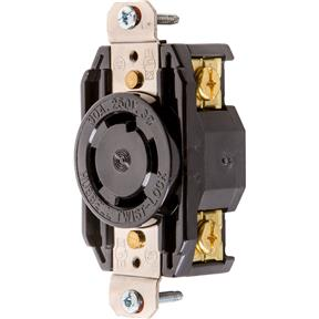 30 Amp 250V NEMA L15-30 3-Phase Twist Lock Receptacle