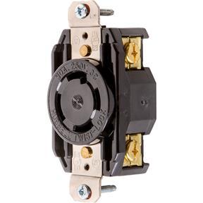 30 Amp 250V NEMA L15-30 3-Phase Twist Lock Receptacle