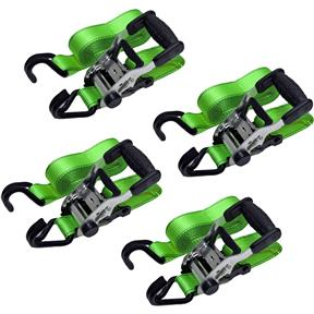 Heavy Duty Ratchet Tie Down Set, 4 pc.