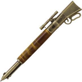 Lever Action Antique Brass Pen Kit with Metal Gunstock