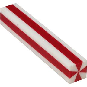 """Red and White Stripes 3/4"""" Patriot Pen Blank"""