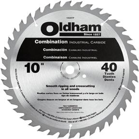 """10"""" x 5/8"""" 40T ATB .095"""" Combination Saw Blade"""